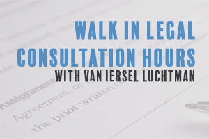 Walk in legal consultation hours with Van Iersel Luchtman